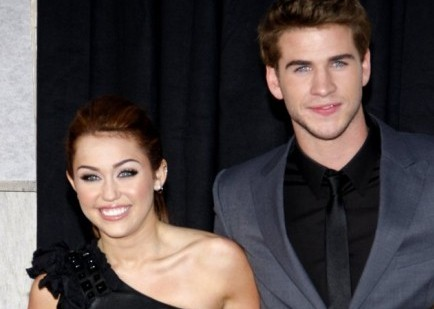Miley Cyrus and Liam Hemsworth. Photo: David Gabber / PR Photos