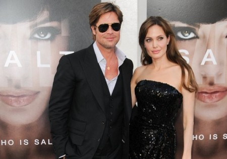 Brad Pitt and Angelina Jolie. Photo: Bob Charlotte / PR Photos