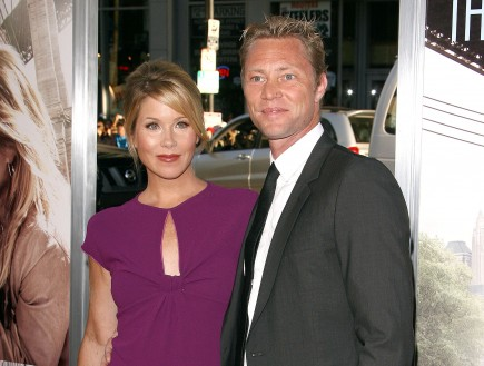 Christina Applegate and Martyn Lenoble. Photo: Fame Pictures