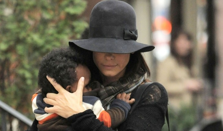Cupid's Pulse Article: Sandra Bullock & Baby Louis Leave Austin