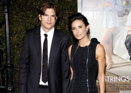 Ashton Kutcher and Demi Moore. Photo: David Gabber / PR Photos