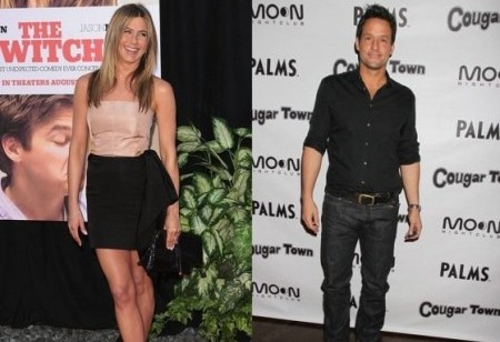 Jennifer Aniston and Josh Hopkins. Photo: Tina Gill / PR Photos; PRN / PR Photos