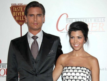 Scott Disick and Kourtney Kardashian. Photo: ER/Flynetpictures.com