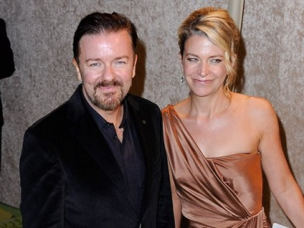 Ricky Gervais and Jane Fallon. Photo: Keadrick D. Washington / PR Photos