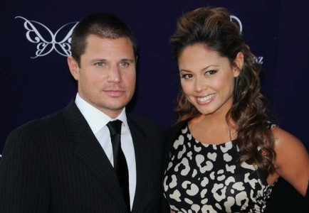 Nick Lachey and Vanessa Minnillo. Photo: Bob Charlotte  / PR Photos
