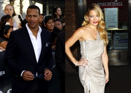 Alex Rodriguez and Kate Hudson. Photo: David Gabber / PR Photos; Starmax / PRPhotos.com