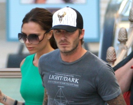 Cupid's Pulse Article: David and Victoria Beckham Get Cozy at Kid's Soccer Game
