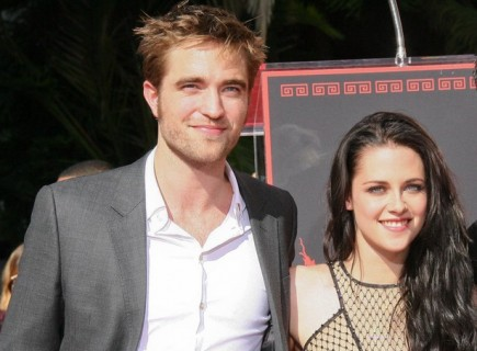 Rob Pattinson and Kristen Stewart. Photo: Andrew Evans / PR Photos