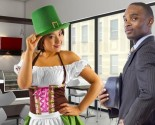 Girlfriend dressed up in St. Patrick's Day costume. Photo: Innovated Captures / Bigstock.com