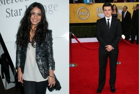 Vanessa Hudgens and Josh Hutcherson. Photo: Janet Mayer / PR Photos; Bob Charlotte / PR Photos