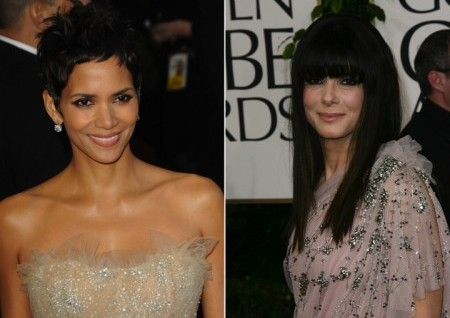 Halle Berry and Sandra Bullock. Photo: Andrew Evans / PR Photos; Bob Charlotte / PR Photos