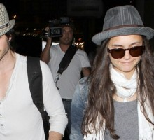 'Vampire Diaries' Stars Ian Somerhalder and Nina Dobrev Pack on PDA
