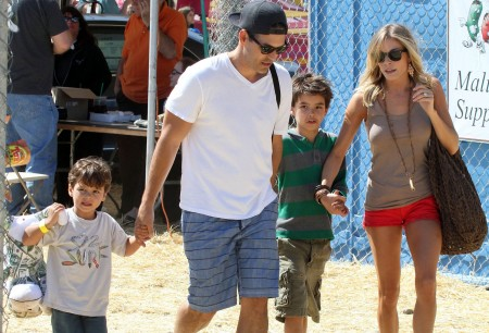 LeAnn Rimes, Eddie Cibrian with kids Jake and Mason Cibrian. Photo: FAMEFLYNET