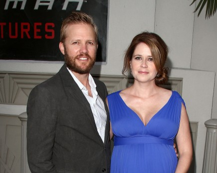 Lee Kirk and Jenna Fischer. Photo: Juan Rico/Fame Pictures