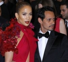 Marc Anthony Supports Jennifer Lopez At Record Release Bash