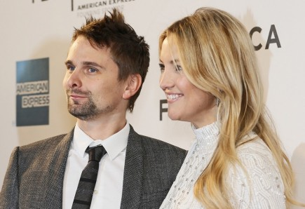Matthew Bellamy and Kate Hudson. Photo: Laurence Agron / PR Photos