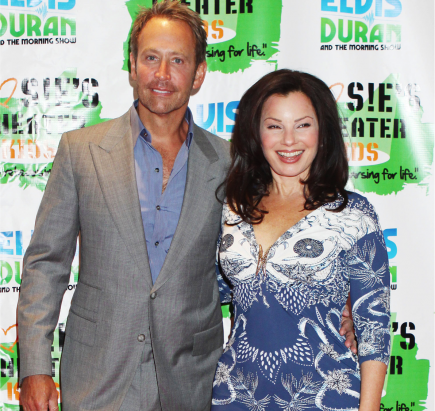 Fran Drescher and Peter Marc Jacobson.  Photo: Diane Cohen/Fame Pictures