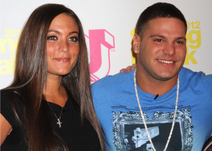 Sammi 'Sweetheart' Giancola and Ronnie Ortiz-Magro.  Photo: FPA/FameFlynet Pictures