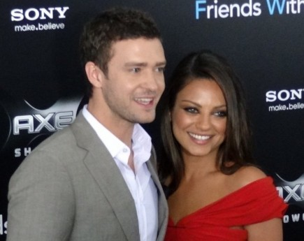 Justin Timberlake and Mila Kunis. Photo: Jonathan Shensa / PR Photos