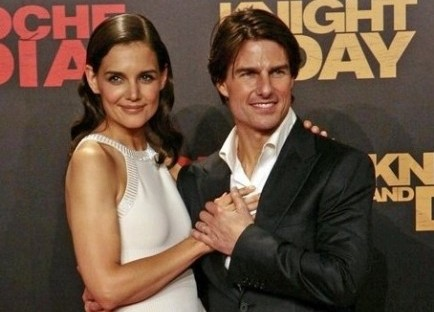 Katie Holmes and Tom Cruise. Photo: Solarpix / PR Photos