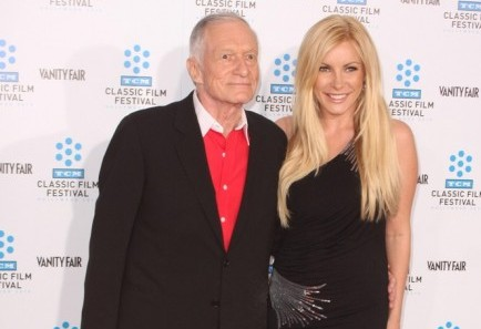 Hugh Hefner and Crystal Harris. Photo: Tommaso Boddi / PR Photos