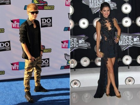 Justin Bieber and Selena Gomez. Photo: Tina Gill / PR Photos; Andrew Evans / PR Photos