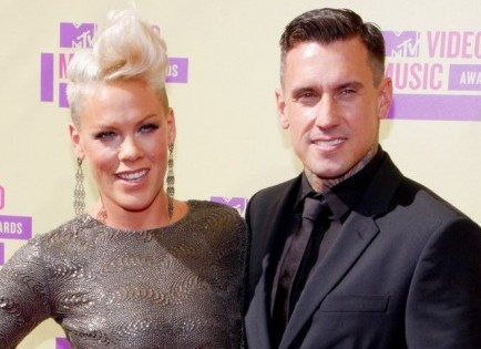 Pink and Carey Hart. Photo: David Gabber / PR Photos