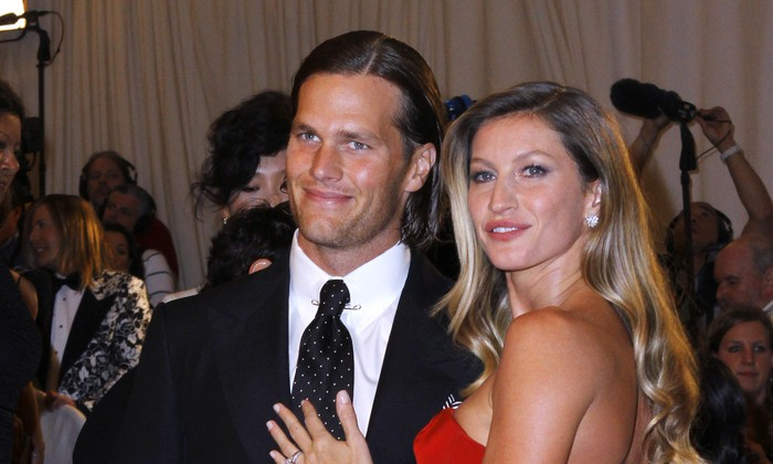 Tom Brady and Giselle Bundchen. Photo: M Van Niedek / PR Photos