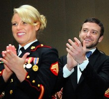 Justin Timberlake Attends Marine Corps Ball, Making Good on Promise