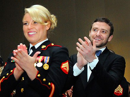 Cupid's Pulse Article: Justin Timberlake Attends Marine Corps Ball, Making Good on Promise