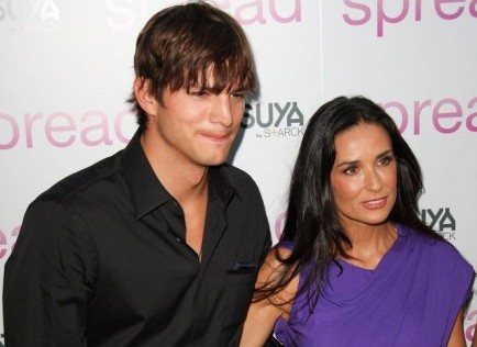 Ashton Kutcher and Demi Moore. Photo: Glenn Harris / PR Photos