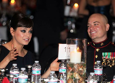 Cupid's Pulse Article: Mila Kunis Keeps Promise and Attends Marine Corps Ball