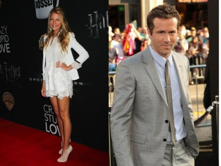 Cupid's Pulse Article: Blake Lively and Ryan Reynolds Partake in PDA at Pool Party
