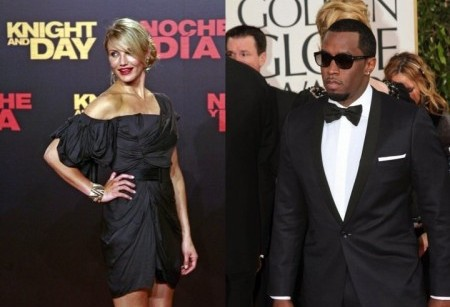 Cameron Diaz and Sean Combs. Photo: Solarpix / PR Photos; Andrew Evans / PR Photos