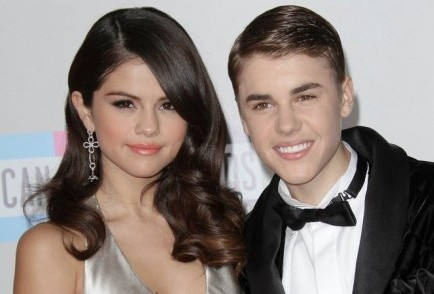 Selena Gomez and Justin Bieber. Photo: Andrew Evans / PR Photos