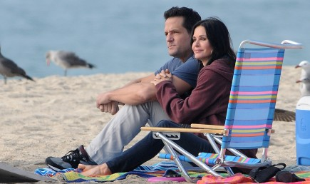 Josh Hopkins and Courteney Cox. Photo: Vasquez/FAMEFLYNET PICTURES