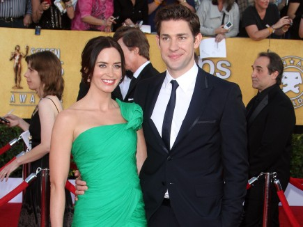 Emily Blunt and John Krasinski. Photo: FAMEFLYNET
