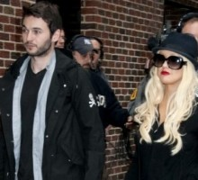 Christina Aguilera Parties in San Diego with Boyfriend and Son