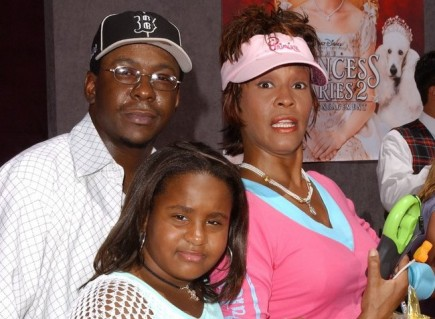 Bobby Brown, Whitney Houston and Kristina Houston. Photo: Lee Roth / RothStock / PR Photos