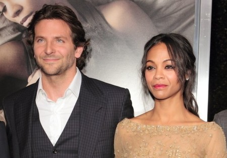 Bradley Cooper and Zoe Saldana. Photo: Tina Gill / PR Photos