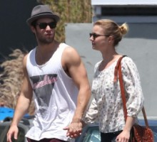 New Couple Emily VanCamp and Josh Bowman Pack on PDA