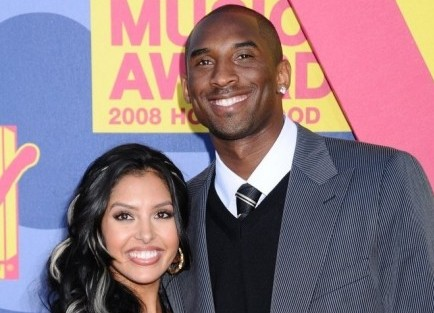Vanessa and Kobe Bryant. Photo: Bob Charlotte / PR Photos