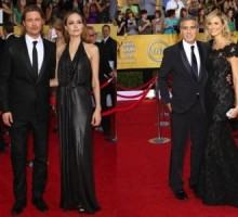 Angelina Jolie, Stacy Keibler and Their Beaus Have Awkward Run-In
