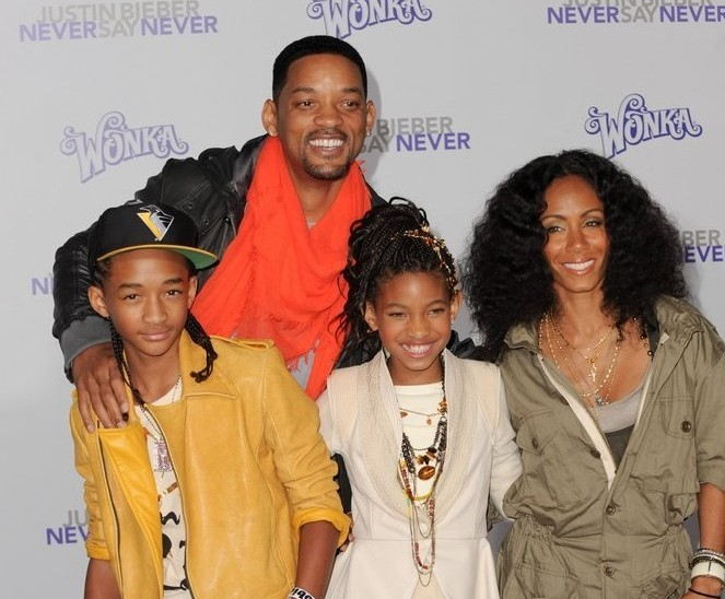 Jaden, Will, Willow and Jada Pinkett Smith. Photo: Allen Berezovsky / PR Photos