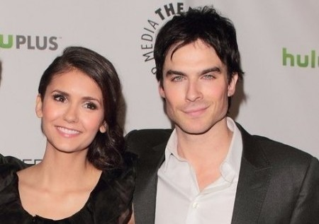 Nina Dobrev and Ian Somerhalder. Photo: Tina Gill / PR Photos