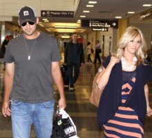 Tony Romo and Candice Crawford Celebrate Super Bowl With Family
