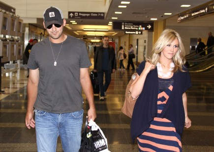 Tony Romo and Candice Crawford. Photo: Mark Wilkins/FameFlynet Pictures