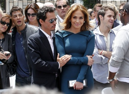 Marc Anthony and Jennifer Lopez.  Photo: Fame Pictures