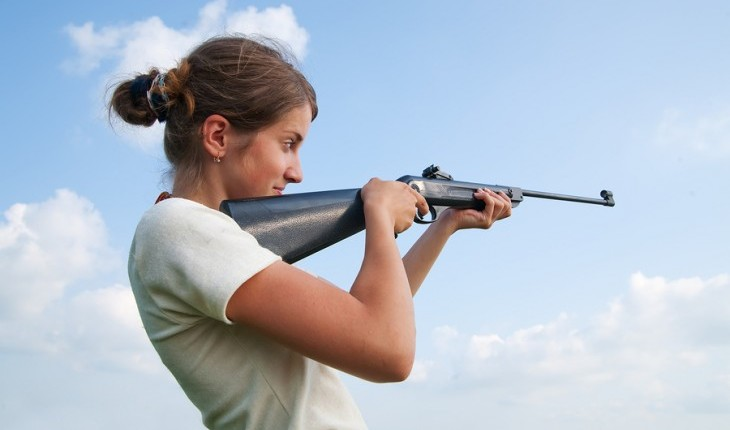 Woman shooting a gun. Photo: JackF / Bigstock.com