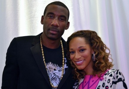 Amar'e Stoudemire and Alexis Welch. Photo: Bernadette Giacomazzo / PR Photos